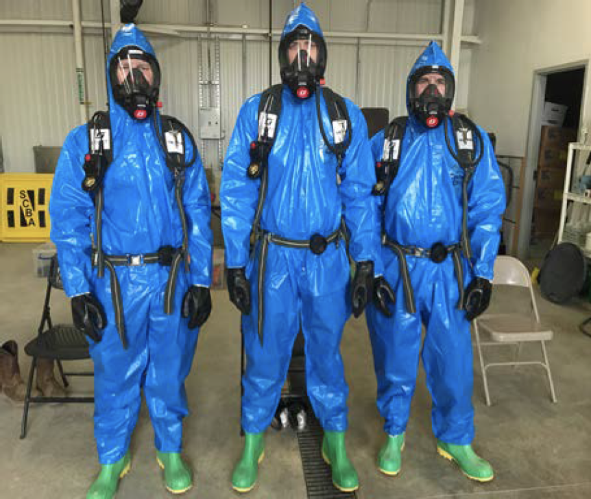 HAZWOPER training performed by TIS